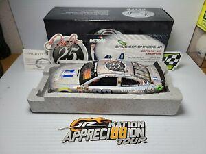 2015 Dale Earnhardt Jr #88 25th Career Win Auto Flashcoat Silver Elite 1:24 MIB