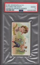 1889 N165 Goodwin & Co. Games & Sports Series Putting the Shot Graded PSA 2