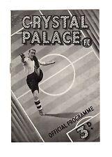Crystal Palace v Aberdeen 1.5.1948 Friendly