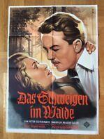 Schweigen im Walde (A), (Kinoplakat '55) - Rudolf Lenz / Sonja Sutter