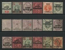 British Bechuanaland Collection 18 QV Stamps Used / Unused Mounted