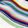 2/3/4/6/8/10MM Rondelle Faceted Czech Crystal Glass Loose Spacer Beads Jewellery