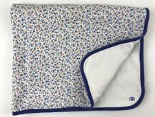 Ralph Lauren Layette Receiving Blanket Cotton Floral Red Blue Yellow Reversible