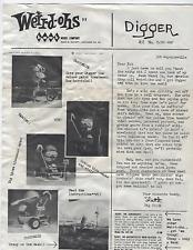 True Vintage Weird-Ohs Digger Hawk Model Kit 1963 Original Instructions 530-100