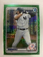 2020 Bowman Chrome Mega Jasson Dominguez Green Mojo Refractor /99 #BCP-243