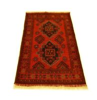 """3'5"""" x 4'1"""" ft. Khal Mohammadi Hand Knotted Tribal Afghan Wool Area Rug"""