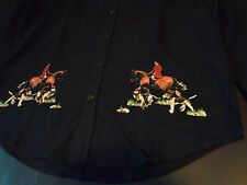 BBC Equestrian Hunting Polo Horse Flannel Button Shirt By Billionaire Boys Club