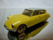 DINKY TOYS 24C CITROEN DS 19 - YELLOW + GREY 1:43 - GOOD CONDITION