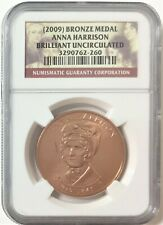 2009 First Spouse Series Anna Harrison Bronze Medal -NGC Brilliant UNC #35539