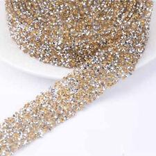 1 Yard Rhinestone Ribbon Sparkle Diamante Trim Sewing Craft Decoration 3cm Width