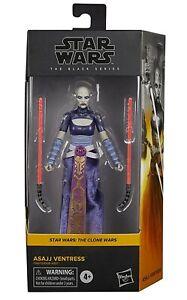 """Asajj Ventress Star Wars Black Series Figure 6"""" Clone Wars In Hand New F1861"""