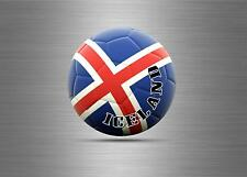 Sticker auto moto aufkleber island iceland foot soccer football viking ref4