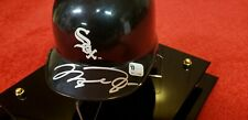 MICHAEL JORDAN AUTOGRAPHED WHITE SOX MINI BATTING HELMET SIGNED WITH GAI COA