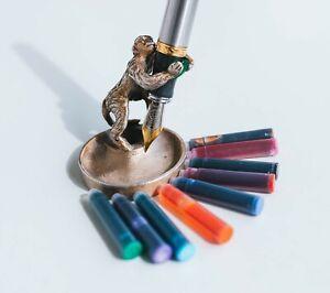 100 Fountain Pen Ink Cartridges, Standard International Size, ( avl in 9 colors