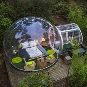 New Outdoor Camping Bubble Tent Clear Inflatable Air Dome Transparent Tent