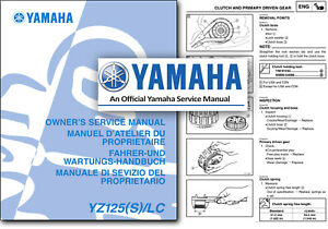 Yamaha Yz Motorcycle Service Repair Manuals For Sale Ebay