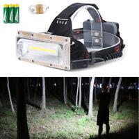 30W LED COB USB Rechargeable 18650 Headlamp Headlight Fishing Torch Flashlight E