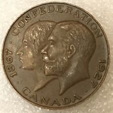 1867-1927 CANADA 🇨🇦 CONFEDERATION  60TH ANNIVERSARY MEDAL free combined S/H