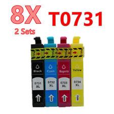8X Generic 73 T073 T0731 ink Cartridge for Epson CX3900 CX4900 CX5500 CX8300