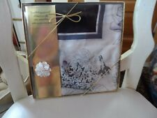 Ladies beautiful black, gray and silver floral square scarf with pin