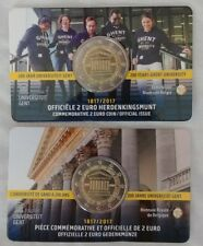 "2  Euros Belgium 2017 ""200 Years of the University of Ghent"" Coin Card"