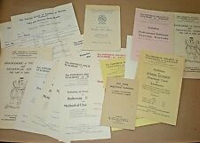 THE IMPERIAL SOCIETY OF TEACHERS OF DANCING. 1940's. BATCH OF PAPER ITEMS.