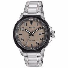 Citizen Eco-Drive AR Men's AW1461-58H Refurbished Silver Bracelet 43mm Watch