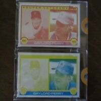 PAIR 1983 Topps Vault Proof Cards #464 GAYLORD PERRY HOF Super Veteran COA Rare