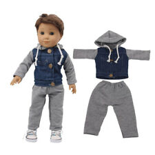 """Hot Handmade Accessories18"""" Inch American Girl Doll Clothes Two-piece Cowboy"""