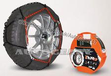 Tyre TUV Approved 9mm Snow Chains 215/50 R17 + Hi-Viz Vest,Gloves & Mat-A10