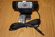 Used Logitech C920 HD Pro Web Cam 1080p 30fps, 15MP Pics, Stereo Mics, Autofocus