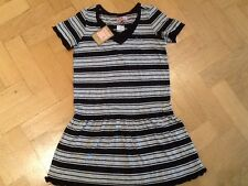 NWT Juicy Couture New & Gen. Black/Grey Cotton Dress Girls Age 8 With Juicy Logo