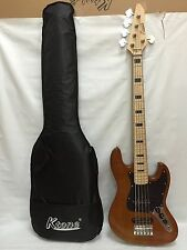 2 MN NA Ash 5 String Bass Guitar, Free Gig Bag, Brand New
