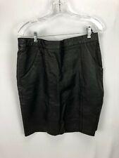 Women's Black Leather Skirt 14