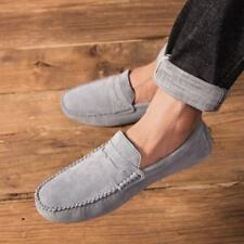 Mens Fur Lined Casual Slip On Penny Loafers Comfort Winter Warm Suede Shoes