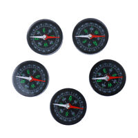 5 Lot Acrylic Compasses Mini Pocket Watch Compass Outdoor Sports Set Tools