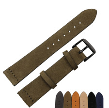Genuine Leather Suede Watch Band Strap For Fossil Seiko Tissots 16mm 18mm 22mm