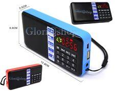 MP3 SPEAKER SD AMPLIFICATA MINI CASSA RADIO FM USB SD OROLOGIO SVEGLIA PORTATILE
