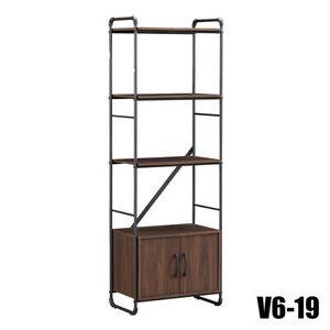 MEYA Rustic shelves Storage Display Decor Metal Black Rustic