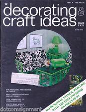 Decorating & Craft Ideas Made Easy Magazine Jun 1973 ~ Multi-Crafts Hip Mod
