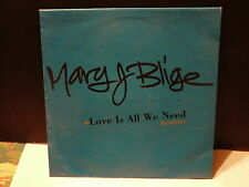 "MAXI 12"" Promo MARY J BLIJE Love is all we need Remixes MCAF 0020 Blue sleeve"