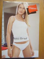 New White HANES Strech Cotton Briefs, panties, underwear, knickers size12 L