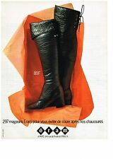 PUBLICITE  1971   ERAM   bottes cuissardes chaussures