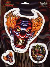 Aufkleber Set Modell Clown Skull Größe 12,5 cm auf 13,0 cm