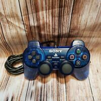 SONY PlayStation 2 Wired Analog Controller DualShock 2 SCPH-10010 OEM PS2 BLUE