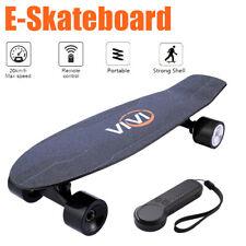 E Skateboard 350W Elektro Skateboard 20km/h Longboard mit Fernbedienung Schwarz
