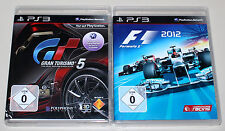 2 PLAYSTATION 3 giochi Set-gran turismo 5 & f1 formula 2012-ps3 corse