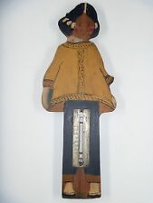 Wilder, Troy NY--Thermometer, Painted Wooden Figure, Asian Motif