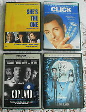 Lot of 4 DVD Movies in Gleaming EC Corpse Bride Cop Land She's The One Click