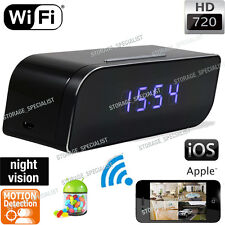 Wireless Clock Camera WIFI IP Room Home Security Video Recorder No SPY Hidden